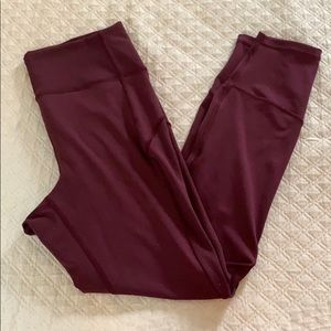 Lululemon in movement leggings maroon